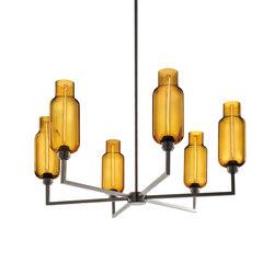 Quill 6 Modern Chandelier | Ceiling suspended chandeliers | Niche