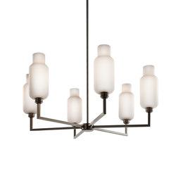 Quill 6 Modern Chandelier | Lampadari da soffitto | Niche
