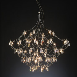 Crystal Galaxy Suspension | Suspended lights | Quasar