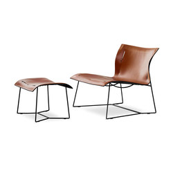 Cuoio Lounge armchair | stool | Armchairs | Walter Knoll