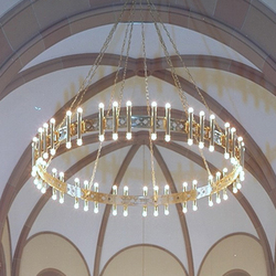 KIRCHE WETTINGEN  Radleuchter | Chandeliers | Okholm Lighting