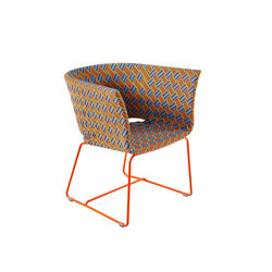 Kente colored lounge armchair | Garden armchairs | Varaschin