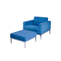 Club armchair with footstool | Poltrone | Loft