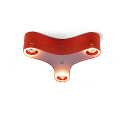 Clover 12C Ceiling light red | Deckenleuchten | Bsweden