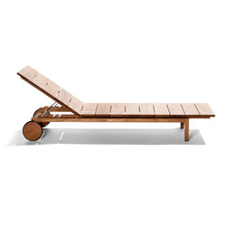 Kos Teak Adjustable Lounger | Sun loungers | Tribu