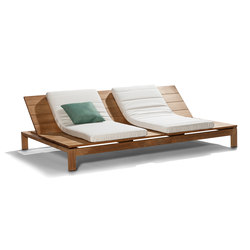 Kos Teak Adjustable Daybed | Méridiennes de jardin | Tribù