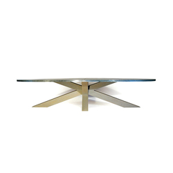 Crosstable 4-Beam Zinc | Tables de restaurant | ZinX