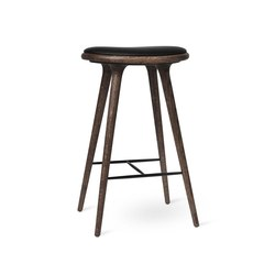 High Stool - Dark Stained Oak - 74 cm | Bar stools | Mater