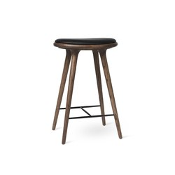 High Stool - Dark Stained Oak - 69 cm | Sgabelli bancone | Mater