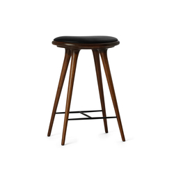 High Stool dark stained oak 69 | Taburetes de bar | Mater