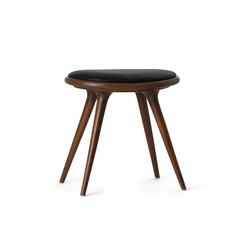 Low Stool dark stained oak 47 | Polsterhocker | Mater
