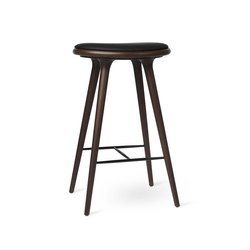 High Stool - Dark Stained Beech - 74 cm | Bar stools | Mater