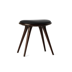 Low Stool dark stained hardwood 47 | Polsterhocker | Mater