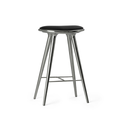 High Stool recycled aluminum 74 | Taburetes de bar | Mater