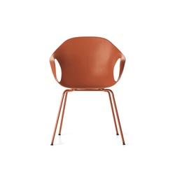Elephant red legs | Restaurant chairs | Kristalia