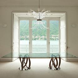 Infinity due basi piano cristallo - rettangolare | Tavoli pranzo | Porada