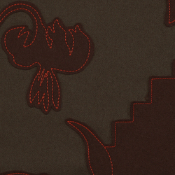 Layers Garden Double 002 Earth/Chocolate/Coral | Tessuti | Maharam
