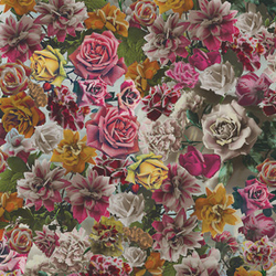 Hand Tinted Rose 001 Unique | Wallcoverings | Maharam