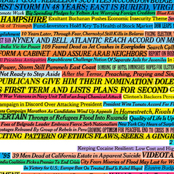 New York Times Headlines (1990-2005) 001 Unique | Wall coverings | Maharam