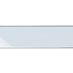ACO ShowerDrain E-line gerade Glas, weiß | Linear drains | ACO Haustechnik