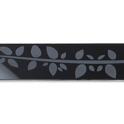 ACO ShowerDrain E-line straight Floral, schwarz | Linear drains | ACO Haustechnik