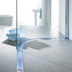ACO ShowerDrain Lightline :Blue | Linear drains | ACO Haustechnik