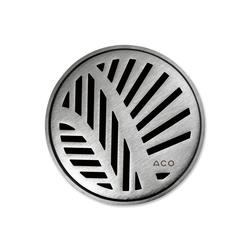 ACO ShowerDrain Badablauf rund Palm | Plate drains | ACO Haustechnik
