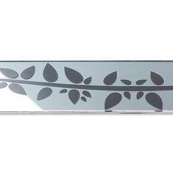 ACO ShowerDrain E-line straight Floral, chrom | Linear drains | ACO Haustechnik