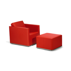 Glamour Armchair with Pouf | Poltrone | GRASSOLER