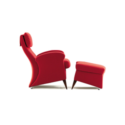Koly Armchair with Pouf | Poltrone | GRASSOLER