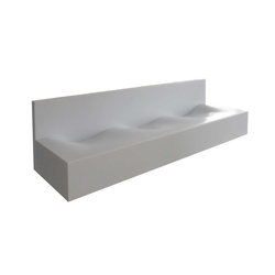 Wave 200 basin trough | Wash basins | AMOS DESIGN