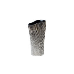 Cardboard Vase | platinum and grey | Vasen | Skitsch by Hub Design