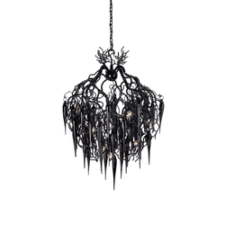 Hollywood chandelier glass | Ceiling suspended chandeliers | Brand van Egmond