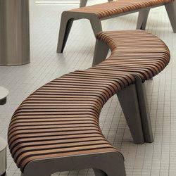 brunea | Curved park bench | Panche da esterno | mmcité