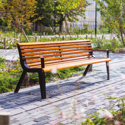 diva | Park bench with backrest and armrests | Panche da esterno | mmcité