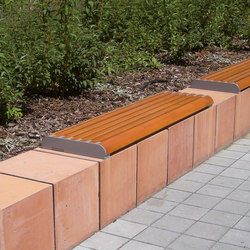 forma | Wall-mounted bench | Exterior benches | mmcité