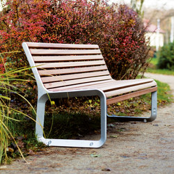 portiqoa | Park bench with backrest | Panche | mmcité
