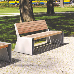 radium | Park bench with backrest | Panche da esterno | mmcité