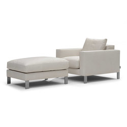 Plaza armchair/footstool | Poltrone lounge | Linteloo