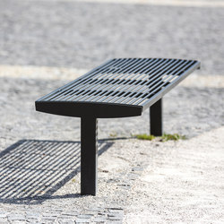 vera solo | Park bench on a central leg | Exterior benches | mmcité