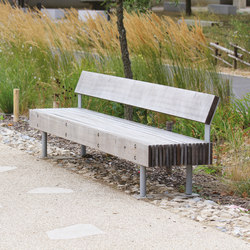 woody | Park bench with backrest | Panche da esterno | mmcité