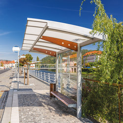regio | Bus stop shelter with arched roof | Bus stop shelters | mmcité