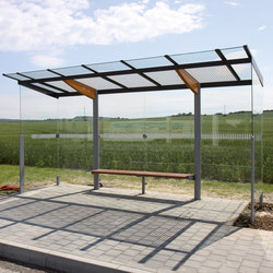 regio | Bus stop shelter with flat roof | Bus stop shelters | mmcité
