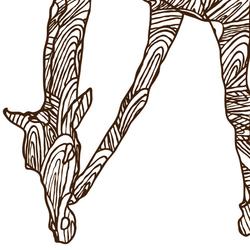 Wild Giraffe | Wall art / Murals | Wall&decò