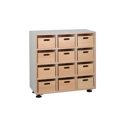 Floor unit with toy boxes  DBF-301-10 | Kids storage | De Breuyn