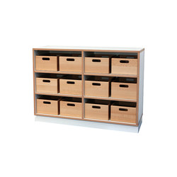 Shelf Unit DBF-604-1-10 | Kids storage furniture | De Breuyn