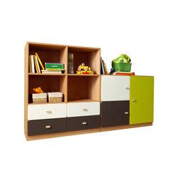 Cabinet Combination DBB-261 | Kids storage furniture | De Breuyn