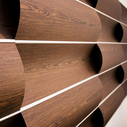 Wave Wall Alternating Wood Panels From Wovin Wall