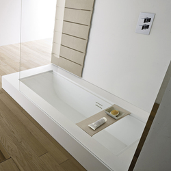 Unico semi-recessed Shower Bathtub | Built-in bathtubs | Rexa Design