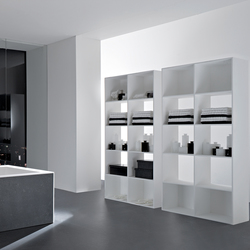 Opened storage unit | Bath shelving | Rexa Design